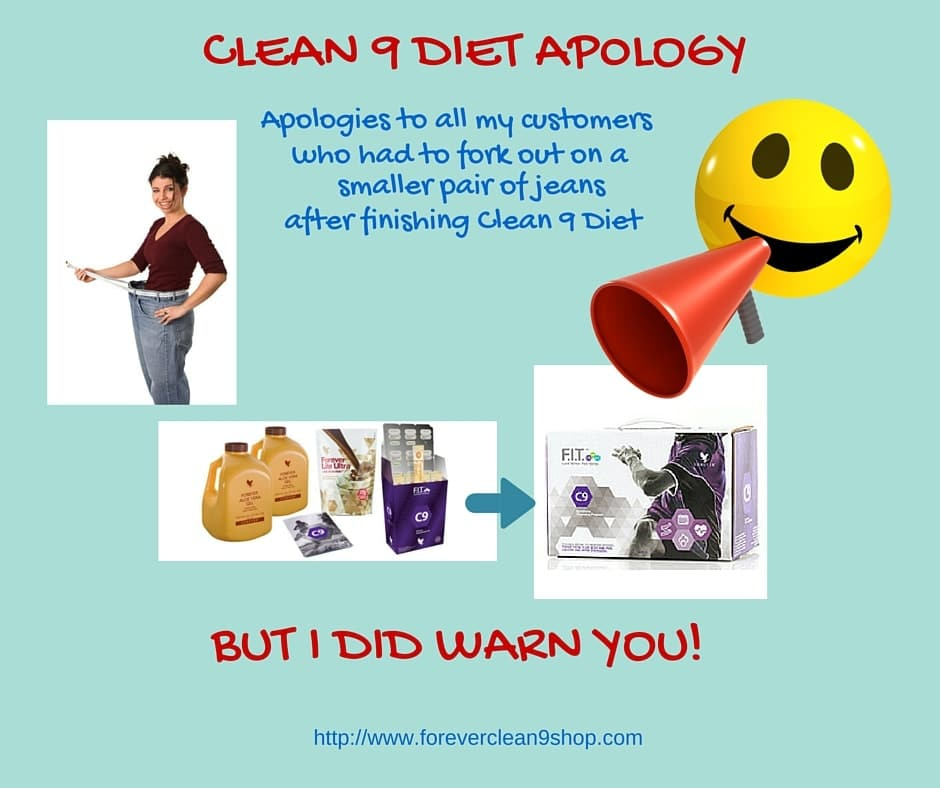 clean 9 diet apology